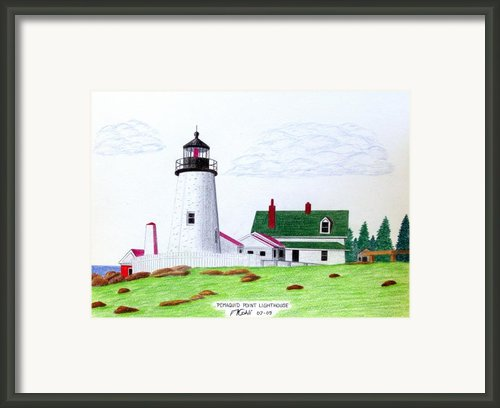 Pemaquid Point Lighthouse Framed Print By Frederic Kohli