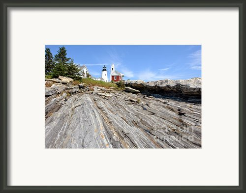 Pemaquid Point Lighthouse In Maine Framed Print By Olivier Le Queinec