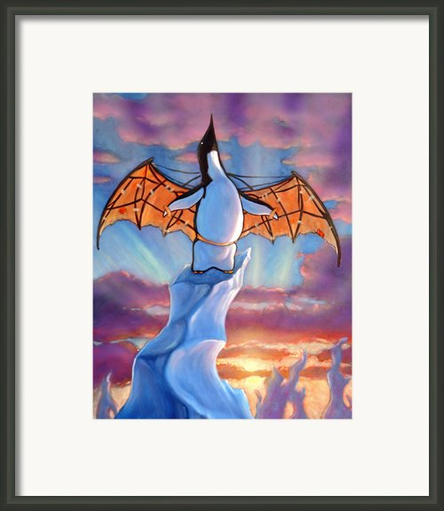 Penguin Wings Framed Print By Michael Orwick