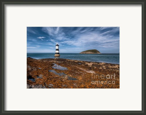 Penmon Lighthouse Framed Print By Adrian Evans