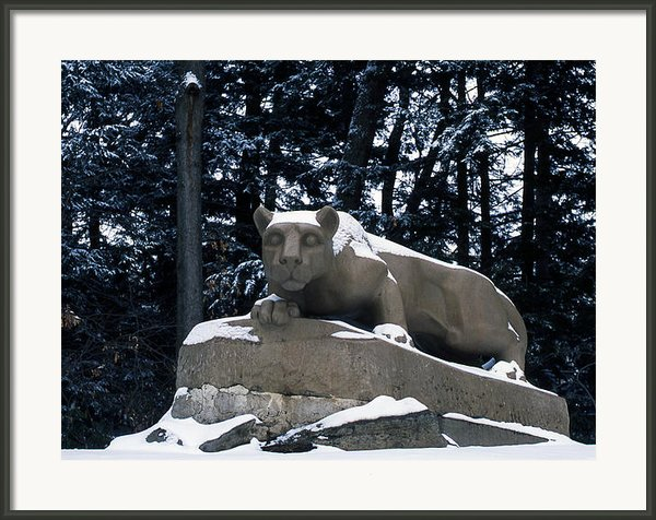 Penn State The Nittany Lion Shrine Framed Print By Penn State Publications