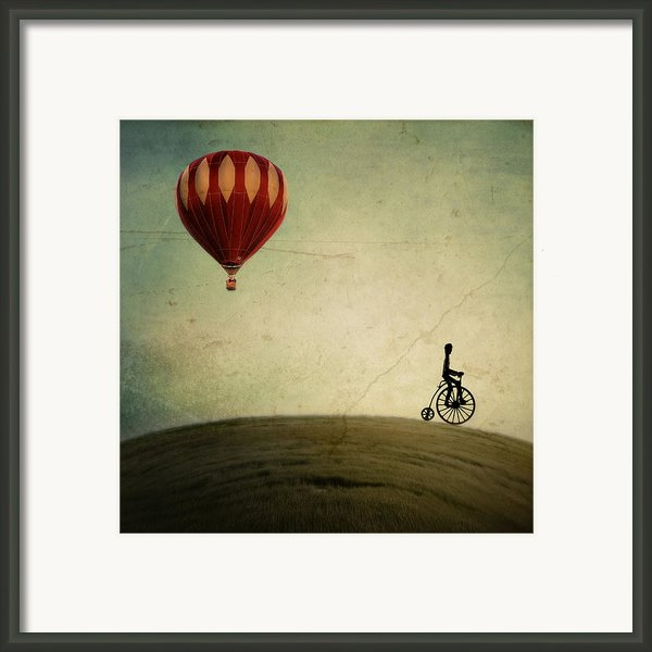 Penny Farthing For Your Thoughts Framed Print By Irene Suchocki