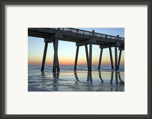 Pensacola Pier At Sunrise 3 Framed Print By Richard Roselli