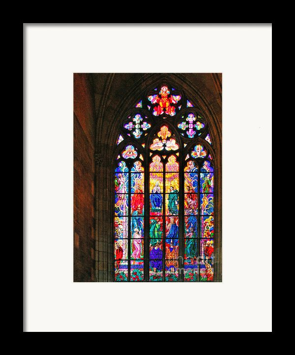 Pentecost Window - St. Vitus Cathedral Prague Framed Print By Christine Till