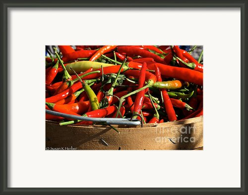Peppers And More Peppers Framed Print By Susan Herber