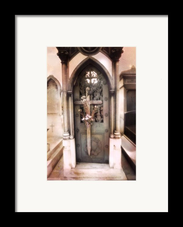 Pere La Chaise Cemetery Ornate Mausoleum Framed Print By Kathy Fornal