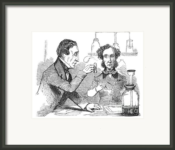 Performing The Marsh Test, 1856 Framed Print By Science Source