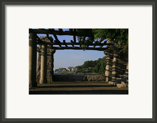 Pergola Framed Print By Christopher Kirby