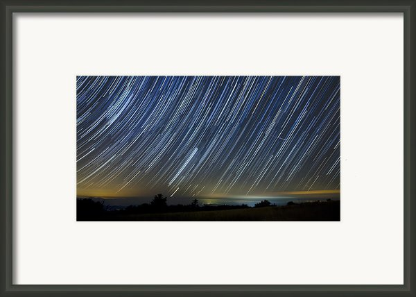 Perseid Smoky Mountain Startrails Framed Print By Daniel Lowe