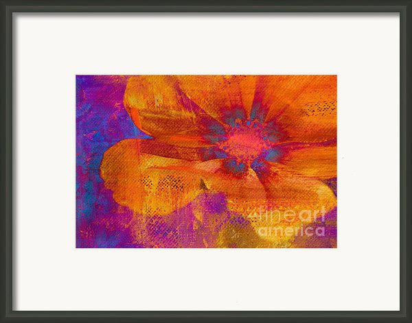 Petaline - T39a04b Framed Print By Variance Collections
