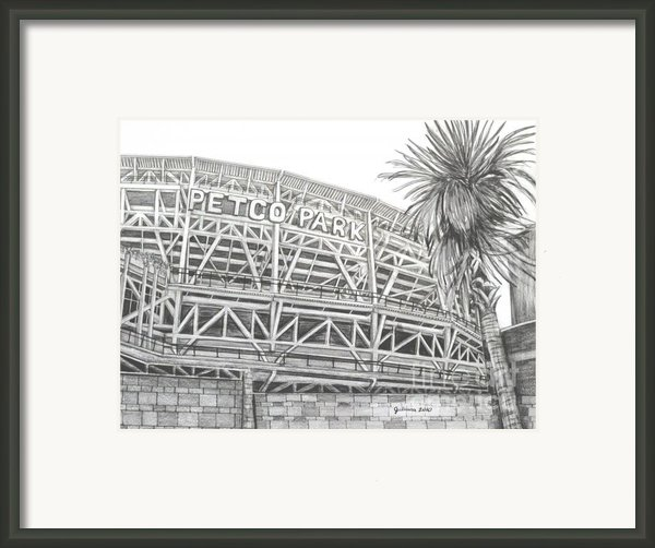 Petco Park Framed Print By Juliana Dube