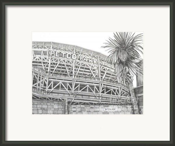Petco Park Framed Print By Juliana Dube