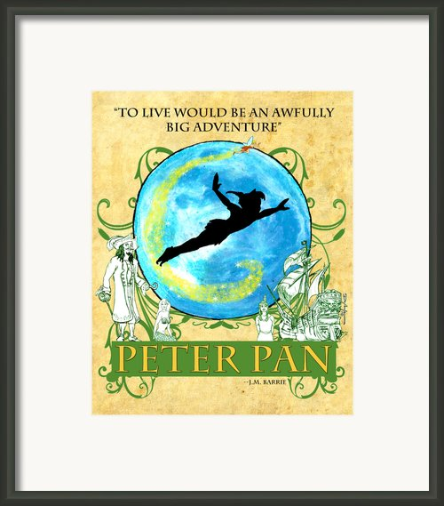Peter Pan Tribute Framed Print By William Depaula