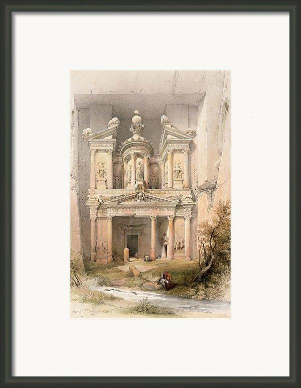 Petra Framed Print By David Roberts