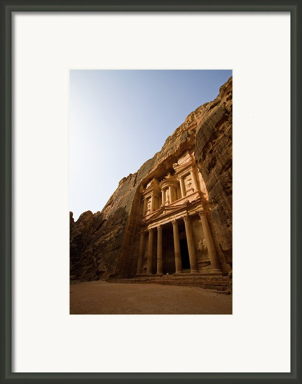Petra Treasury At Morning Framed Print By Universal Stopping Point Photography