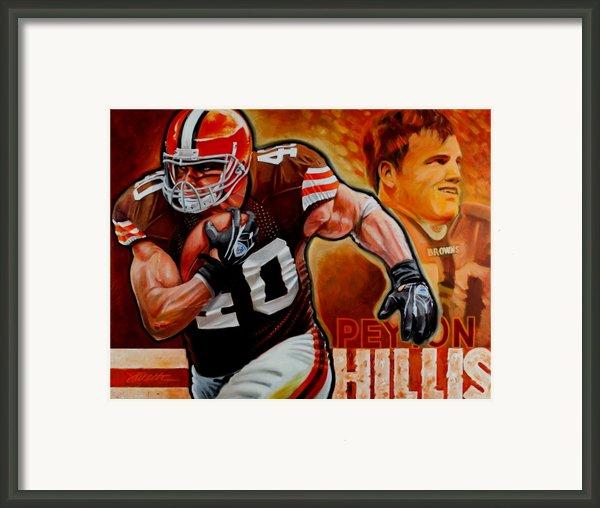 Peyton Hillis Framed Print By Jim Wetherington