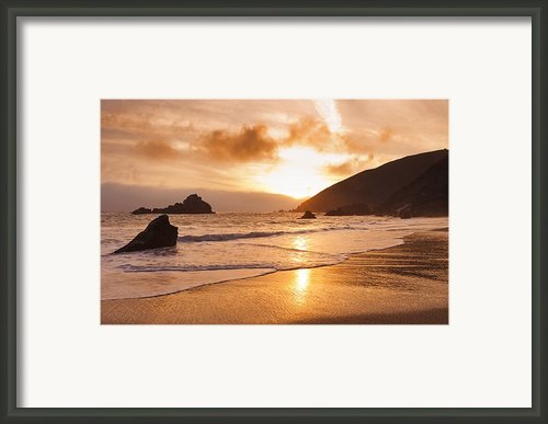 Pfeiffer Burns Beach - Sunset Framed Print By Quincy Dein - Printscapes