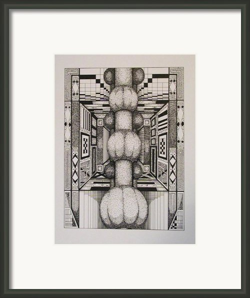 Phallus In A Crossword Puzzle Framed Print By Wayne Woodruff
