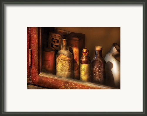 Pharmacist - Miracle Tonics Framed Print By Mike Savad