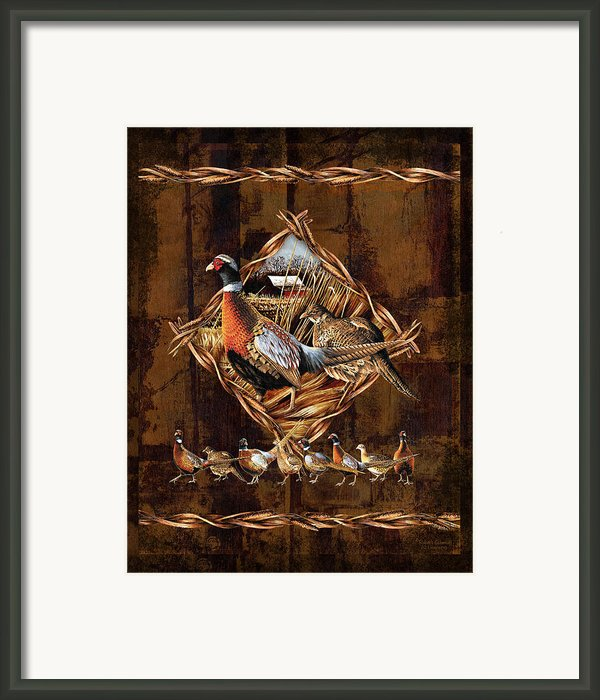 Pheasant Lodge Framed Print By Jq Licensing