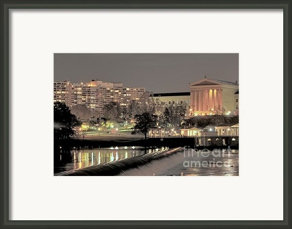 Philadelphia Art Museum In Pastel Framed Print By Deborah  Crew-johnson