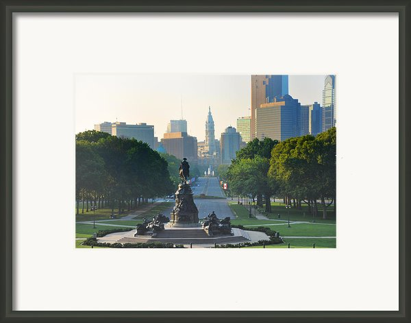 Philadelphia Benjamin Franklin Parkway Framed Print By Bill Cannon