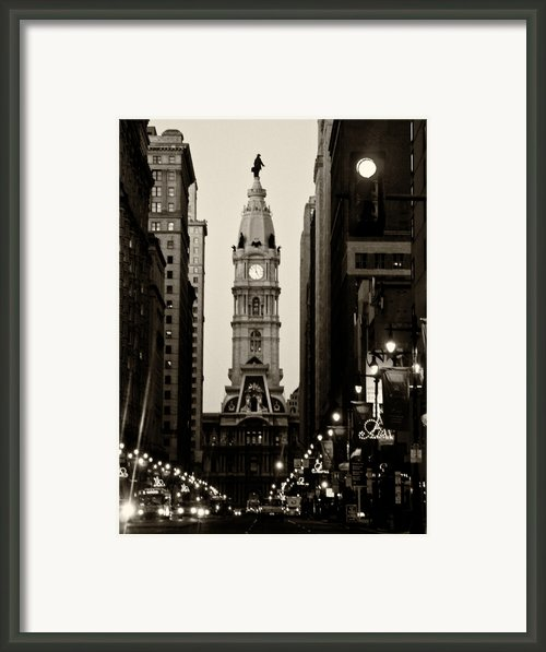 Philadelphia City Hall Framed Print By Louis Dallara