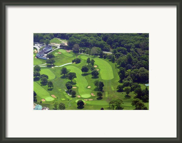 Philadelphia Cricket Club Wissahickon Golf Course 1st And 18th Holes Framed Print By Duncan Pearson