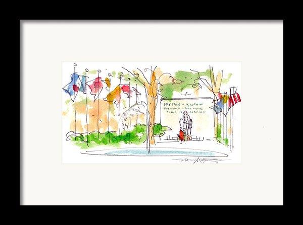 Philadelphia Park Framed Print By Marilyn Macgregor