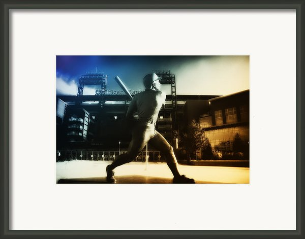 Philadelphia Phillie Mike Schmidt Framed Print By Bill Cannon