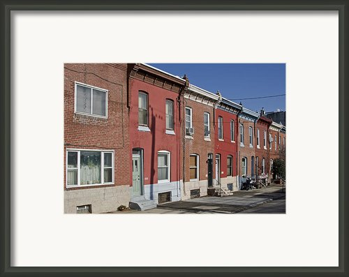 Philadelphia Row Houses Framed Print By Brendan Reals