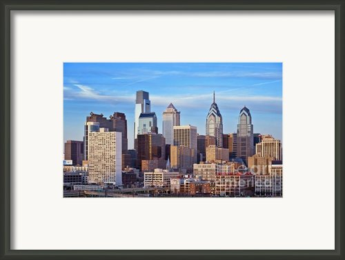 Philadelphia Skyline Framed Print By John Greim