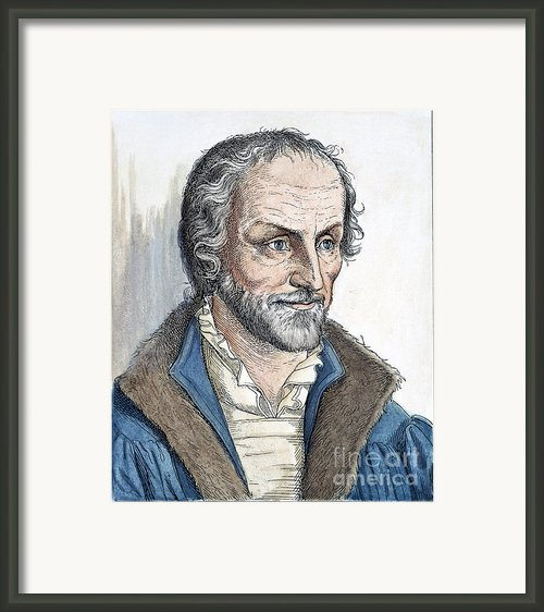 Philipp Melanchthon (1497-1560). German Scholar And Religious Reformer: Line Engraving, German, 19th Century Framed Print By Granger