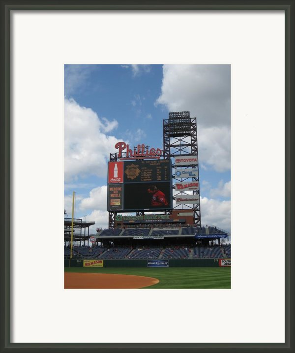 Phillies Framed Print By Jennifer  Sweet