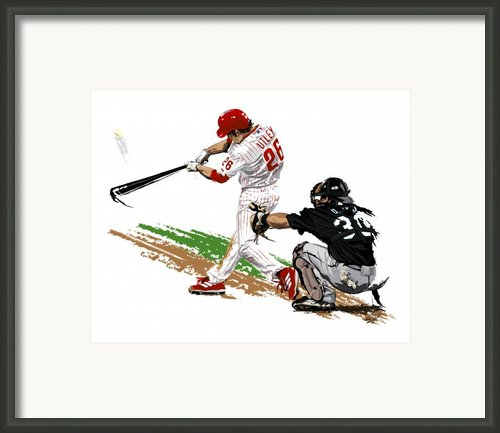 Phillies Mvp Chase Utley Framed Print By David E Wilkinson