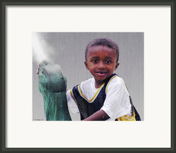 Philly Fountain Kid Framed Print By Brian Wallace