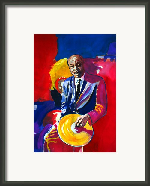 Philly Jo Jones - Jazz Drummer Framed Print By David Lloyd Glover