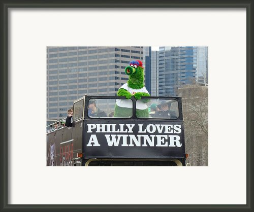 Philly Loves A Winner Framed Print By Alice Gipson