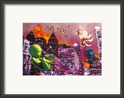 Philly Rapture Framed Print By Bobby Zeik