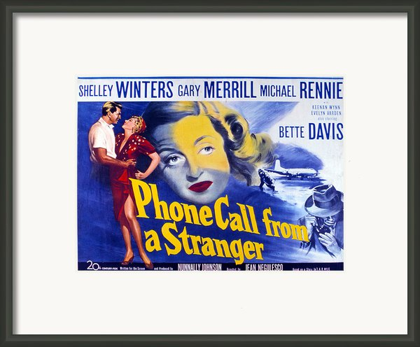 Phone Call From A Stranger, Bette Framed Print By Everett