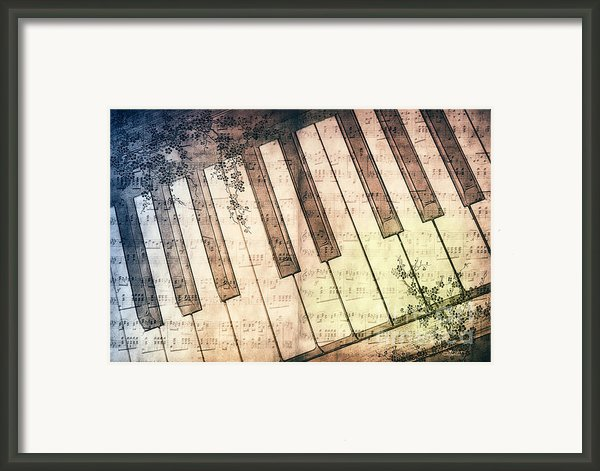 Piano Days Framed Print By Jutta Maria Pusl