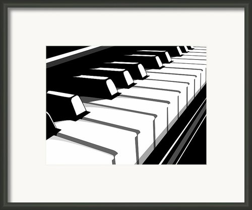 Piano Keyboard No2 Framed Print By Michael Tompsett
