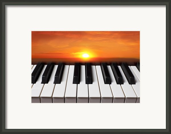 Piano Sunset Framed Print By Garry Gay