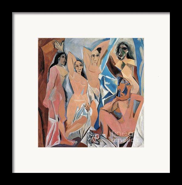 Picasso Demoiselles 1907 Framed Print By Granger