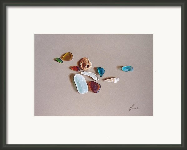 Pieces From The Ocean Framed Print By Elena Kolotusha