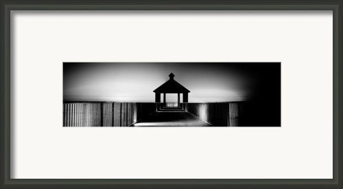Pier Panoramic Framed Print By Pixel Perfect By Michael Moore