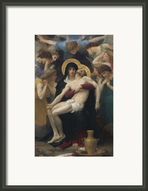 Pieta Framed Print By William-adolphe Bouguereau