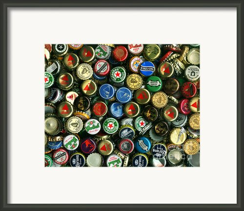 Pile Of Beer Bottle Caps . 8 To 10 Proportion Framed Print By Wingsdomain Art And Photography