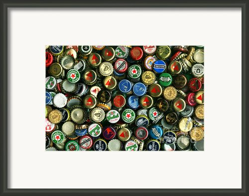 Pile Of Beer Bottle Caps . 8 To 12 Proportion Framed Print By Wingsdomain Art And Photography