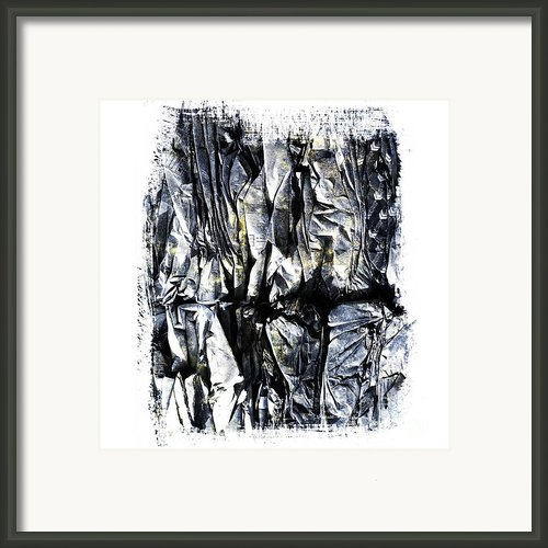 Pile Of Crushed Cardboard  For Recycling Framed Print By Bernard Jaubert
